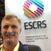 Dr Apel attending the European Society of Refractive Surgery